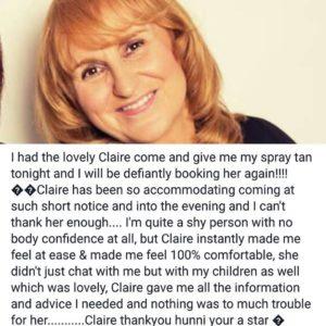 Claire Testimonial