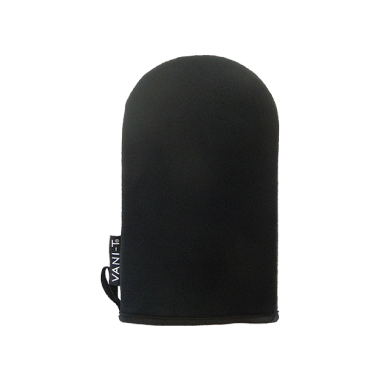 Photograph of black Vani-T Tanning Mitt